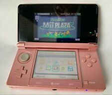 Nintendo 3DS Coral Pink portable Handheld System CTR-001+ baby life game