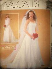 Ms McCall 4299 Pattern Wedding Dress Spaghetti Strap Jacket UC Size 8-10-12-14
