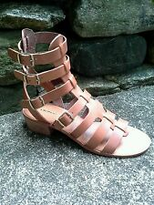 Chinese Laundry Take Down Gladiator Sandal Cognac BOHO Sz 7/37.5