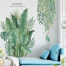 Hot Tropical Leaves -Plant Wall Stickers PVC Nursery Art Mural US