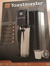 Toastmaster Single Serve Coffee Maker Brewer with Permanent Mesh Filter - Black