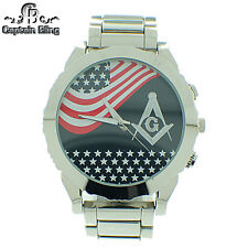 Men's Masonic Elegant Dress  Watch ICE NATION /CAPTAIN BLING # WM612 Brand New