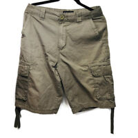 Burnside Men's Brown Cargo Double Four Front Pockets Shorts Size 30 Fashion
