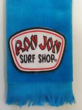 Ron Jon fingertip TOWEL aqua FREE SHIP surf surfer surfing ocean