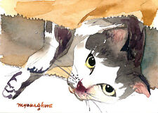 ACEO LimitedEdition-Cat, Animal art print of an Original watercolor ACEO by Anna