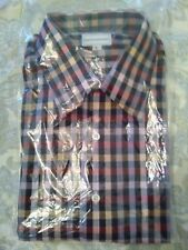 Maus & Hoffman Sz L plaid Short Sleeve Men's Shirt