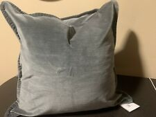 Pottery Barn Washed Velvet Gray Pillow Covers Pillows New