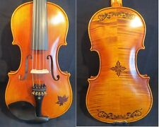 Strad style SONG excellent maestro 5strings 4/4 violin inlaid & carving #11251