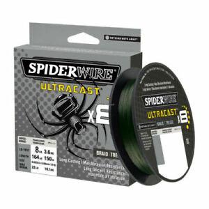 Spiderwire Ultracast Braid Superline, 30lb test, 328yd,Ultimate Braid-Moss Green