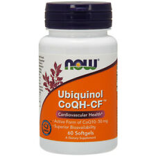 Ubiquinol - CoQH-CF, 50mg x 60 Softgels, CoQH, Statins, (CoQ10) - NOW Foods