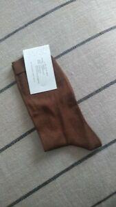 Arket brown silk blend socks NEW UK 3.5-5 fits UK 6-7