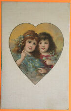 Victorian Children, WINSCH SCHMUCKER? NOVELTY SILK Post Card 1905-15