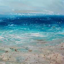 More details for semi abstract seascape / coastal art. original acrylic painting.
