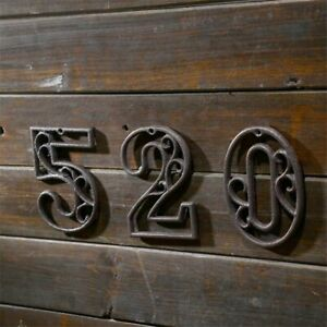 Customized House Number Cast Iron American Style Door Address Home Plate Plaque