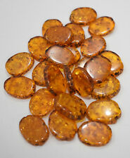 Beads Amber Resin Oval Vintage Beads 20mm