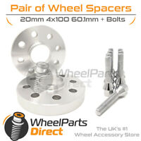Wheel Spacers (2) & Bolts 20mm for Renault Clio [Mk4] 12-19 On Original Wheels