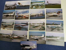 Glasgow Airport, airliners in the late 1960s, 17 different new postcards