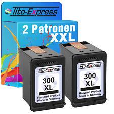 2 Patronen XXL Black für HP 300 XL F 4272 D 2566 F 4240 F 4213 F 4250 F 4293