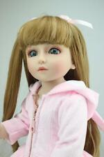 "18"" Reborn Doll Body SD-1TZ Sweetie Long Hair Girl Toy W/Bonnie Clothing"
