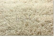 Blanc ivoire sparkle shaggy moderne fait main tapis échantillon, taille: 15cmX15cm