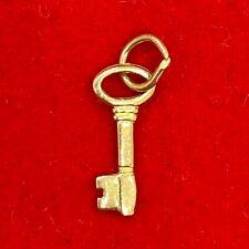 NEW 9ct Yellow Gold Key Pendant 375 Charm 9KT 9K Open Lock New Beginnings Start