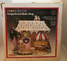 Puleo Fiber Optic Gingerbread Bake Shop Bakery Christmas Village Town House