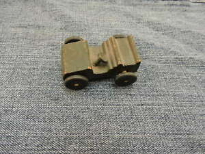 1940's  Hand made Wood Products All Wood Army Toy Jeep 2 1/4' Louis Marx Father