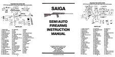 Saiga Semi-Automatic Firearms Manual, EAA Corp.