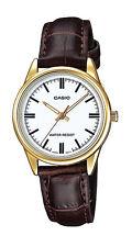 Casio LTP-V005GL-7A Women's Standard Gold Tone Leather Band Analog Dress Watch