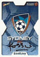 ✺Signed✺ 2008 2009 SYDNEY FC A-League Card JOHN KOSMINA