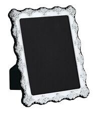 "CARRS - Sterling Silver Photo Frame Antique design Velvet Back - 8"" x 6"""