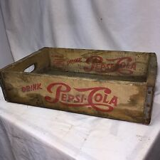Vintage Pepsi Cola Wooden Crate Carrier Box Soda Pop Manchester NH sign