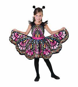 Schmetterling Kinderkostüm für Mädchen Kleid Butterfly Kinder Kostüm Karneval