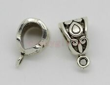 40/100pcs Tibetan Silver 6mm Hole Charm Bail Connector Bead Fit Charm Bracelet