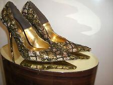 LEDER Damen Schuhe/Shoes Altramarea Gold/Schwarz Gr.38 Made in Italy