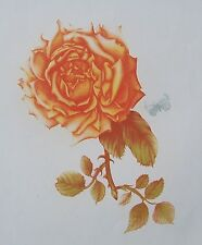 "Just Stunning ORIGINAL Martha PURDY HAND SIGNED Etching ""Rose and Butterfly"" COA"