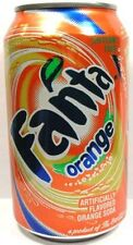 FULL New 12 Ounce (Old-Style) Can Coca-Cola's Fanta Orange USA 2008