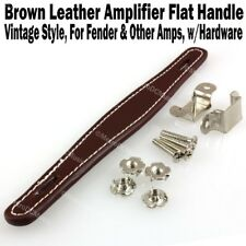 Brown Vintage Flat Leather Amplifier Handle for Fender & Other Amp Hardware NEW