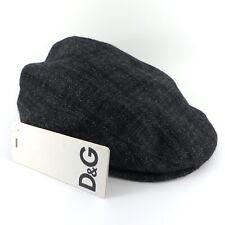 DOLCE & GABBANA D&G GREY WOOL SILK FLAT CAP HAT SIZE 59 RRP £150
