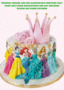 Disney Princess characters edible cake topper decoration ICING / WAFER