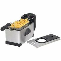1500W 3.0 L Electric Deep Fryer Stainless Steel  Adjustable temperature control