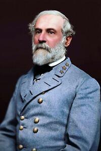 Confederate Gen. Robert E Lee;Portrait (1864) - Real Canvas Art Print  ****