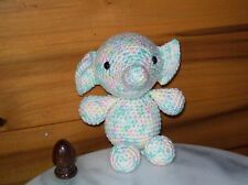 Adorable 6 in crochet baby elephant animal toy nursery handmade