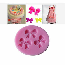 3D Three Bows Cake Mold Chocolate Candy Silicone Mould Cake Tools Bakeware