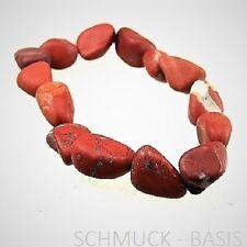 Roter Jaspis, MATT, Nugget - Armband mit Stretchband, tolle Farbe !!!