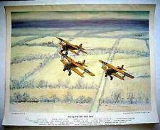 1962 Charles Hubbell Boeing PW-9D Peashooters Avaition Print