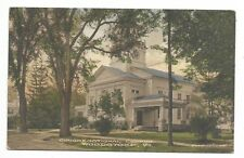 WOODSTOCK, VT Congregational Church - Hand colored postcard