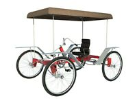 4 Wheel Bike Plans DIY Pedal Car Quad Cycle Rickshaw Pedicab Build Your Own