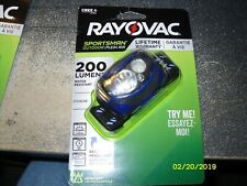 Rayovac Sportsman 200 Lumen 3AAA  Headlight with Batteries // Sealed // Free Sh