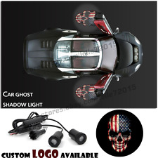 2X American Flag Skull Car Door Welcome Laser Projector Ghost Shadow LED Light